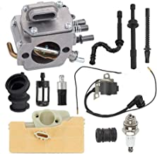 Hayskill MS290 Carburetor with 0000 400 1300 Ignition Coil Oil Fuel Filter Line Spark Plug for Stihl 029 039 MS290 MS310 MS390 Chainsaw Carb Replace 1128 120 0625