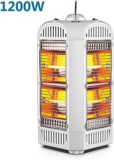 Calefactor eléctrico 1200W Calefactores Y Radiadores Halógenos Habitación Baño Uso Dual Calentador Calefacción De Cuatro Lados Con Caja De Humidificación Mudo Sin Viento No Esta Seco Diseño De Interru