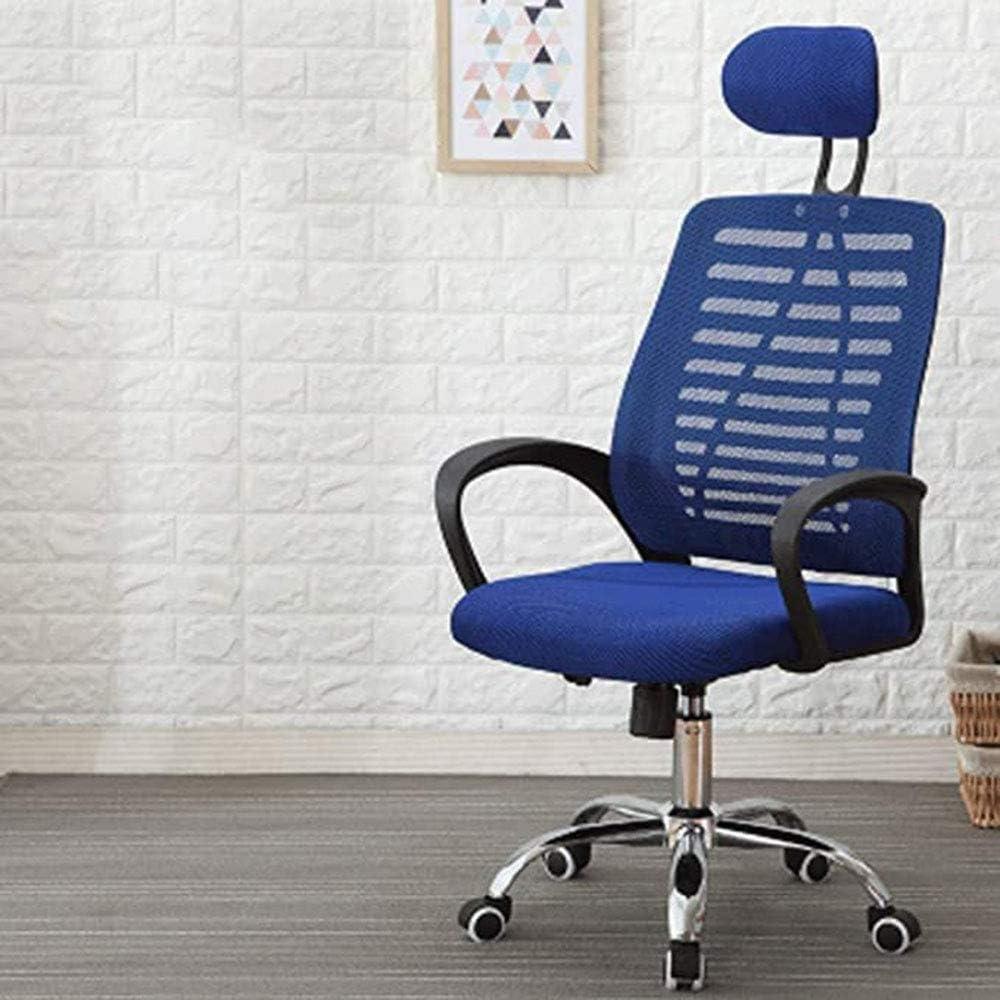 JIANGPENG Dortoir Chaise Maison Confortable Dossier Chaise pivotante Chaise Chambre inclinable Chaise de Bureau Tabouret Paresseux étudiant Ordinateur Chaise d'écriture Blue