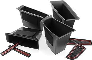 [4 Stück] CDEFG für Mazda3 CX30 CX 30 2019 Auto Aufbewahrungsbox Autotür Innenrahmen Box Abdeckungen Innenraum Zubehör Storage Box (Front & Rear)