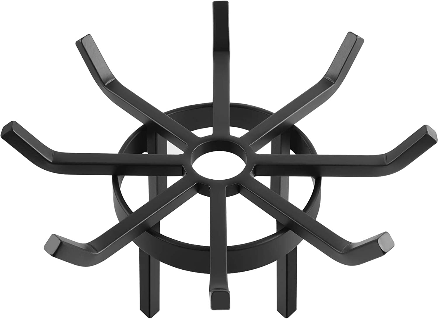 Amagabeli 20in Fire Grate Log Grate Wrought Iron Fire Pit Round Spider Wagon Wheel Firewood Grates Heavy Duty 0.7in Bar Fireplace Stove Burning Rack Holder 4Legs Black Chimney Hearth Kindling Stacking