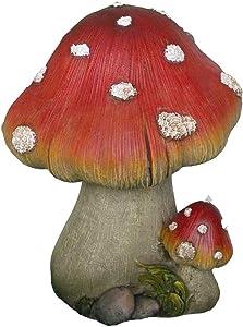 Harmony Fountains Grande e piccolo motivo funghi statua da giardino–Great Garden Decor per esterni giardini e spazi Living