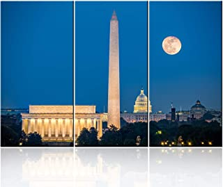 Lincoln Memorial, Washington Monument and Capitol Building in Washington DC, USA Print On..