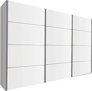 Schlafzimmer Turin White Sliding Door Wardrobe - 301cm Wide - German Made Bedroom Furniture