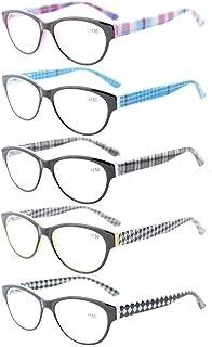 c29d66f155 Eyekepper 5-Pack Readers Spring Hinges Retro Cat-eye Reading Glasses Women  +0.5