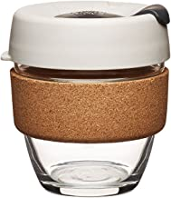 KeepCup 8oz Reusable Coffee Cup. Toughened Glass Cup & Natural Cork Band. 8-Ounce/Small, Filter