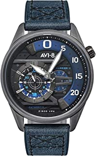 Hawker Harrier II AV-4070 Ace of Spades Automatic Watch | Leather Strap - Midnight Cerulian
