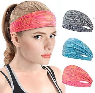 Ushiny - Fascia per capelli in stile boho annodato, elastico turbante per capelli, accessorio per donne e ragazze (3 pezzi)
