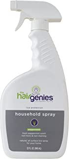 Hair Genies Lice Protection Household Spray. Repellant and Protection, Safe, All Natural, for House, Home, Car, Furniture, Couch, Toys,Non-Staining, Peppermint Scented Cleaner, Repels Super Lice,32 oz