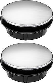 Tapa de Agujero de Grifo de Fregadero Tapón de Agujero de Grifo de Acero Inoxidable, 2 Packs (1,1 a 1,7 Pulgadas de Diámetro)