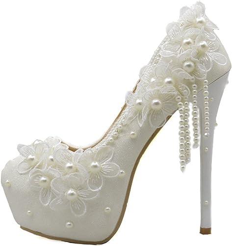 Sandalen cm 14 Hoch Ferse Weiße Pumps Brautschuhe Strass