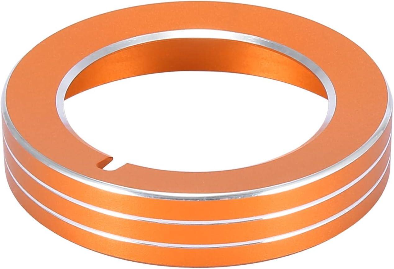 X AUTOHAUX 1pc Max 81% OFF Orange Aluminium Car Limited price Headlight Alloy Switch Butto