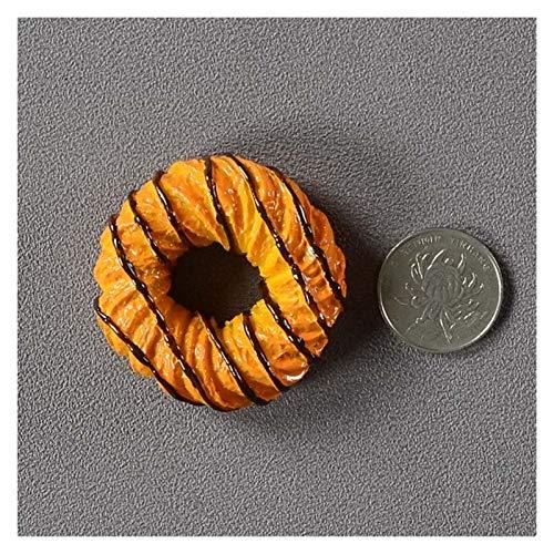JSJJAWS Imanes Nevera Creative Simulation Food 3D Frigorífico Imanes Cono Dulce Pollo Frito Pierna Hamburguesa Decoración magnética Imán Imán De Frigorífico Pasta Regalo (Color : Black Doughnut)