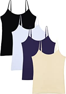 Women's Basic Solid Camisole Adjustable Spaghetti Strap Tank Top