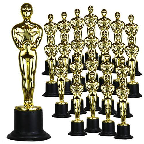 GiftExpress 6' Gold Award Trophy, Award Statues, Oscar Statues Trophies for Award Ceremony, Appreciation Gift (Pack of 24)