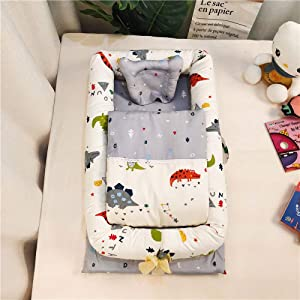 YANGGUANGBAOBEI Baby Lounger Cushion Breathable And Hypoallergenic Toddler Newborn Co-Sleeping Lounger Bed for 0-24 Months A