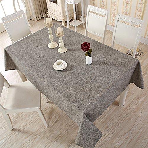Nappe rectangulaire en coton et lin, Tissu, Noir , 140x250cm