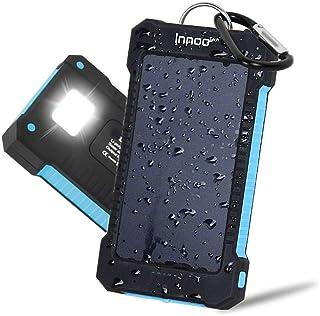 comprar comparacion Innoo Tech Cargador Solar 10000mAh, Power Bank portátil con Batería Externa y Protección IP65(a Prueba de Golpes,Agua,Polv...