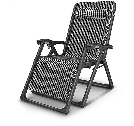 LLRDIAN Chaise Longue Pliante, lit de Sieste, Multi-Fonction Paresseux à la Maison, Chaise Portable