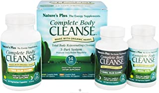 NaturesPlus Complete Body Cleanse Kit - 14 Day Cleanse, 140 Vegetarian Capsules - Herbal Body Detox & Colon Cleanse for Weight Loss, Energy Booster - Organic, Gluten-Free - 42 Servings