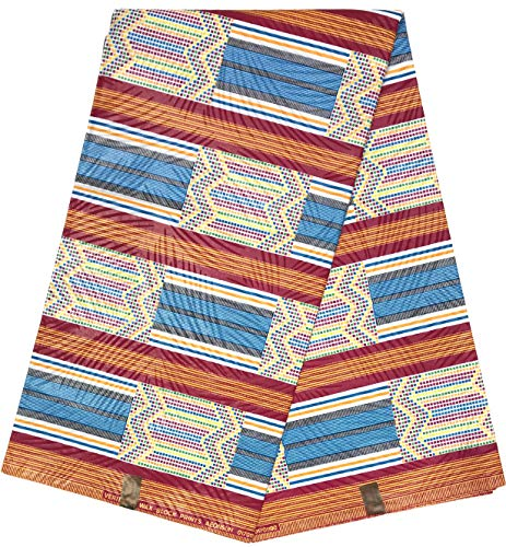 hitarget Afrikanischer Bastrock Wax Druck Überqualität Baumwollstoff ORIGINAL Collection Material rutschigen Typ Java Kupon 6 Yards
