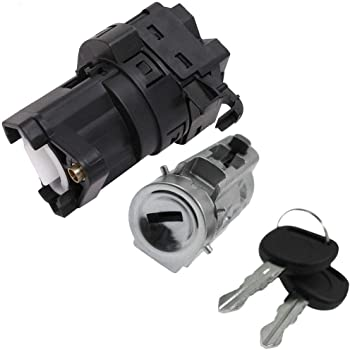 ROADFAR Ignition Lock Cylinder and Starter Switch Replacement Parts Replacement Fits for 1997-1999 Oldsmobile Cutlass 2000-2001 Chevrolet Lumina 1999-2005 Pontiac Grand Am