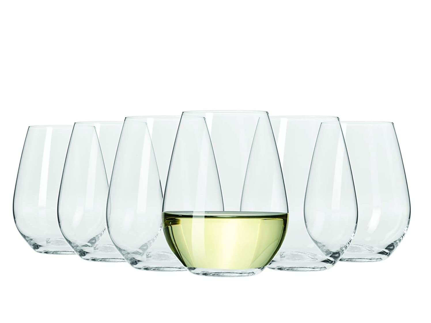 Maxwell and Williams Vino Stemless White Wine Glasses 400ml Set of 6