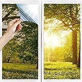 Kamenda Lámina de espejo autoadhesiva para ventana, protección solar, protección de visión UV, lámina aislante contra rayos ultravioleta, 40 x 400 cm