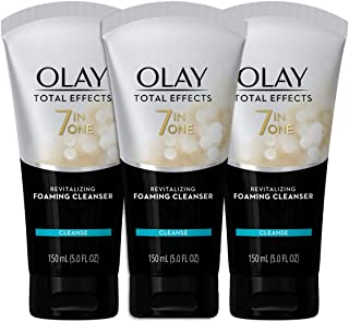 Foaming Face Wash by Olay Total Effects, Revitalizing Facial Cleanser, 5.0 Fluid Ounce (Pack of 3)
