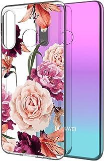 ZunYing Färgglatt fodral flickor kompatibelt med Huawei P Smart 2020, kristallklar transparent mjuk ultratunn silikongel T...