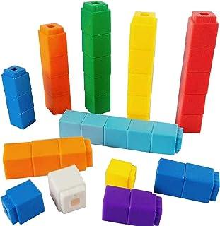 RAINBOW TOYFROG Math Manipulatives Counting Cubes, Educational Number Blocks, Classroom Toys Kindergarten Learning Materia...