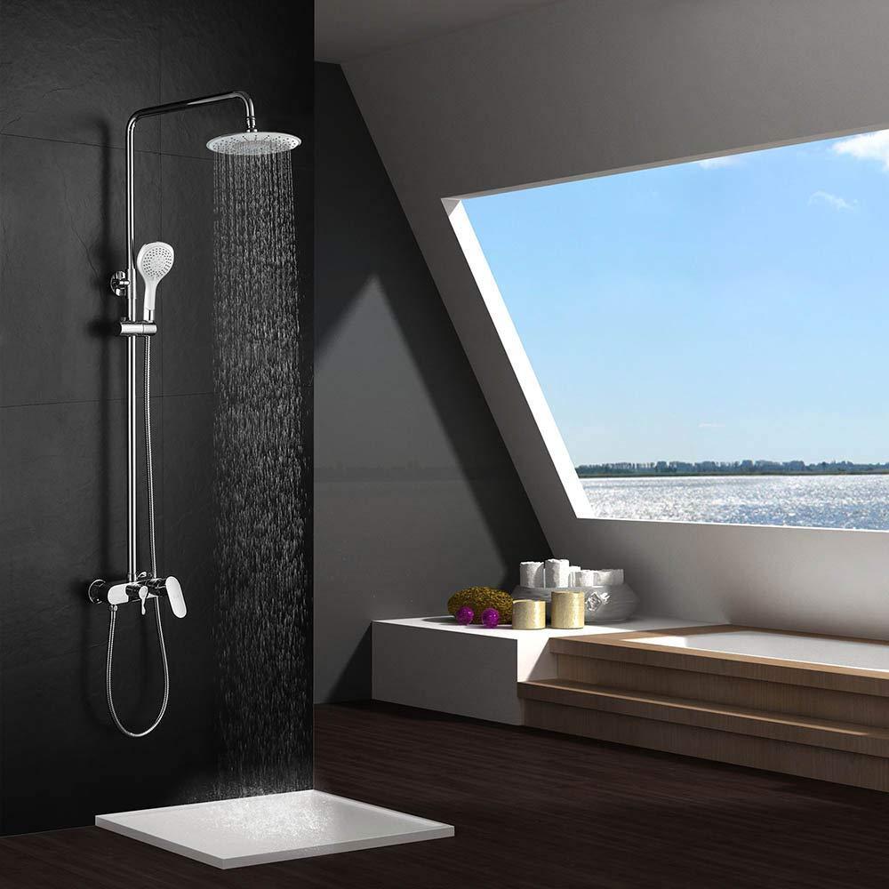 Columna ducha extensible con grifo MONOMANDO, maneral de ducha ...