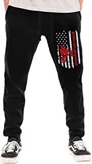 Machao American Flag Motocross Dirt Bike Vintage Men/Women Sweatpants Funny Joggers Pants Sports Trousers with Drawstring XL
