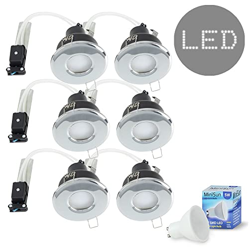 Huis Houders, hangers BATHROOM IP65 GU10 6W LED RECESSED DOWNLIGHT INCLUDES  LAMP 240V ENSUITE SHOWER