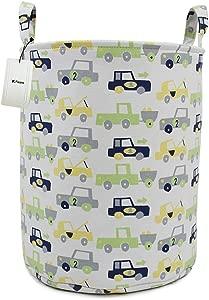 Fieans Nursery Laundry Storage Basket Large Collapsible Fabric Hamper Kids Toys Storage Bins Car