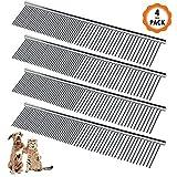 4 Stück Haustierkamm Hundekamm Metall Stainless Steel Comb Haustier Bürste