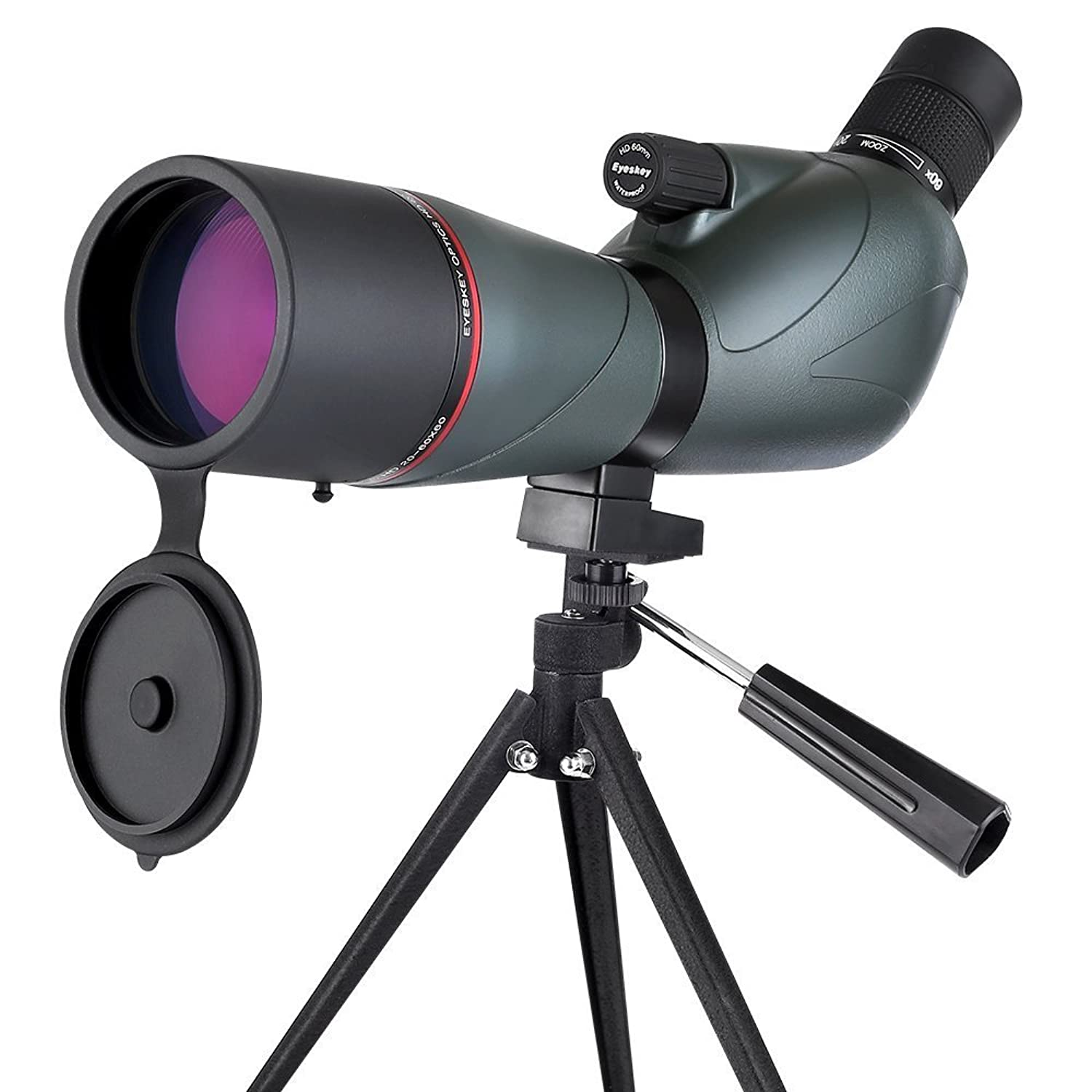 Eyeskey Spotting Scope, Waterproof Zoom Spotting Scope Telescope with Retractable Eyepiece and Fully Multi Coated Optical Glass Lens, Comes with Carry Pouch and Tripod