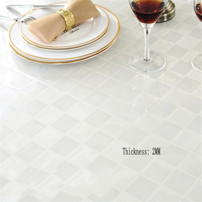 diseñador en linea QPG Mantel Mantel Mantel rojoondo de PVC de vidrio blando transparente ( Color    2 , Tamaño   100cm )  promociones de descuento