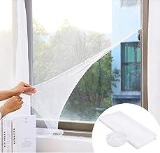 CODIRATO 4 stuks muggennet voor ramen, insectenbescherming, vliegengaas, 1,5 x 1,3 m, insectenwerend net met klittenband, ...