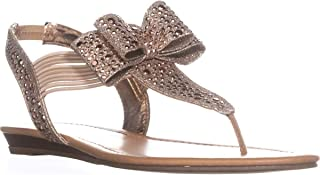 Womens Shayleen Fabric Open Toe Casual, Rose Gold, Size 6.5