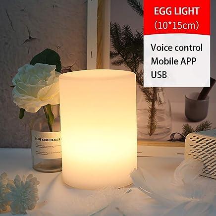 MZHI WiFi Luz Nocturna Nocturna Luz Ambiental Ambiente Color Regulable Control Remoto a trav/és de Dispositivo Inteligente y  Voice Control Alexa y Google no Hub,1