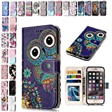 V-Ted Coque Housse Etui Samsung Galaxy S6 Edge Hibou Flip Case Cover Portefeuille PU en Cuir Silicone Bumper Pochette Luxe Vintage...