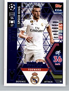 2018-19 Topps UEFA Champions League Match Attax #50 Gareth Bale 17-18 Real Madrid Winners Soccer Trading Card