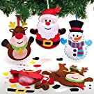 Baker Ross AX473 Christmas Decoration Sewing Kits - Pack of 3, Creative Craft Supplies for Children to Make and Decorate, Ideal for Kids Christmas Arts & Crafts Project