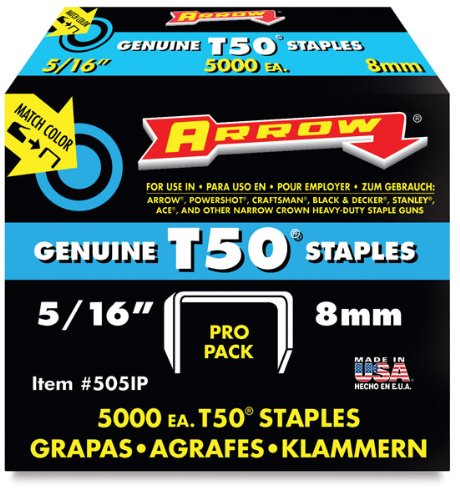 Arrow Fastener 50524 5 16 T50 Staples 0079055505167 Buy New And Used Home Improvements Books And More Bigwords Com