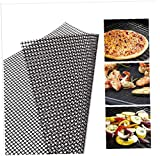 3PC <span class='highlight'>BBQ</span> Grill Mesh Mat Non-Stick Cooking Mats Grilling Sheet Liner Reusable Grill <span class='highlight'>Accessories</span> for Use on Gas,<span class='highlight'>Charcoal</span>,Electric Barbecue(30 * 40CM)