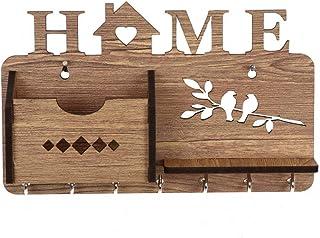 Sehaz Artworks Home-Side-Shelf-WT-KeyHolder Wooden Key Holder (7 Hooks)