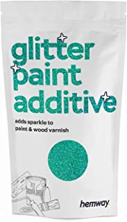 Hemway (Turquoise Holographic) Glitter Paint Additive Crystals 100g / 3.5oz for Acrylic Latex Emulsion Paint - Interior Exterior Wall, Ceiling, Wood, Varnish, Dead Flat, Matte, Gloss, Satin, Silk