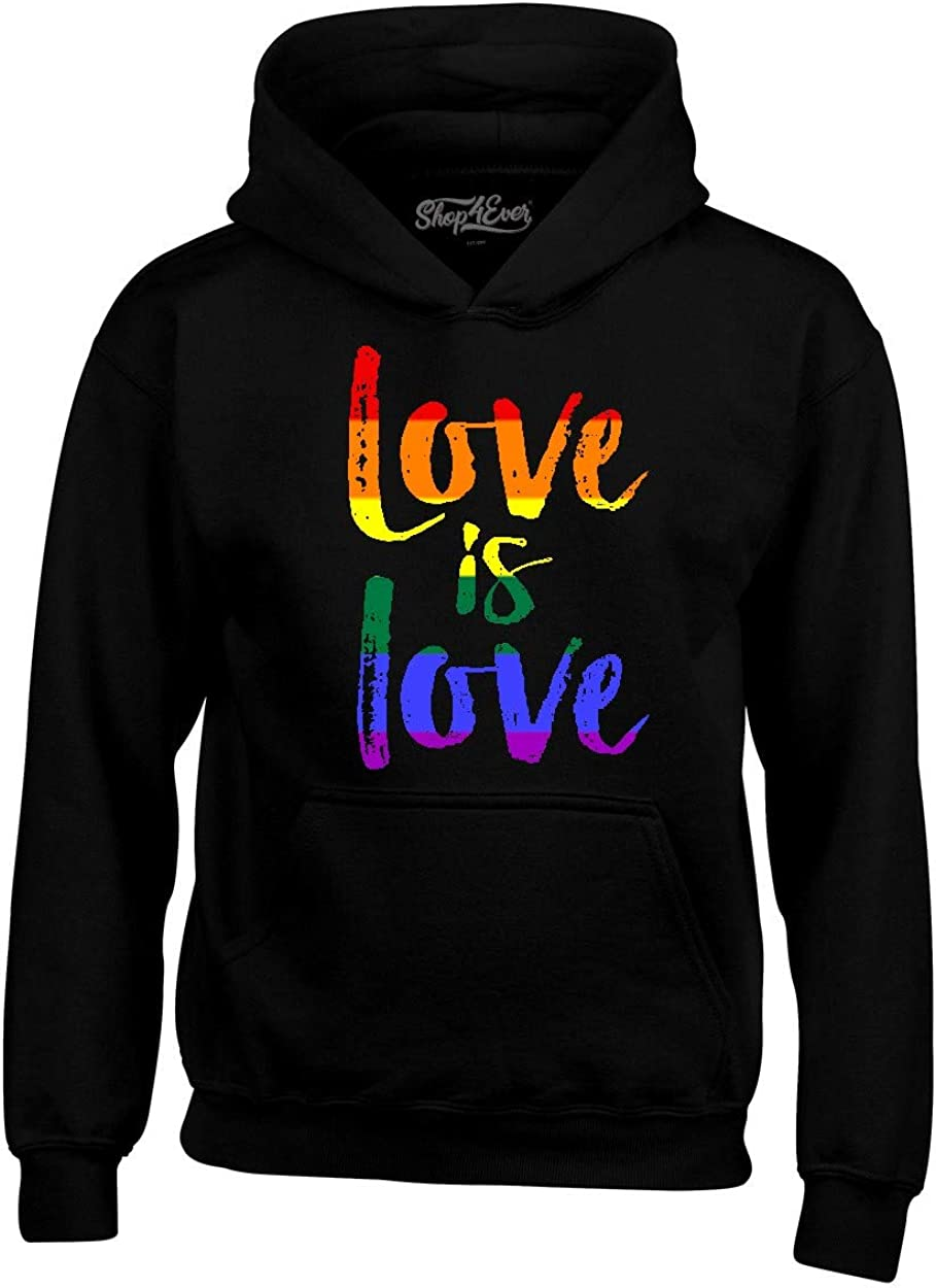 shop4ever Love is Gay sold out Hoodie Sweatshirts Great interest Pride