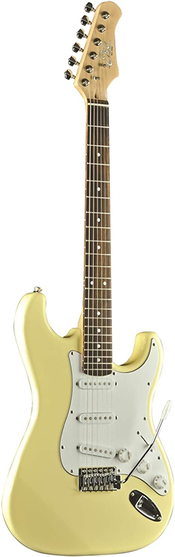 EKO S-300 Cream - Guitarra eléctrica modelo Stratocaster de 22 teclas, color crema